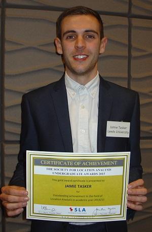 SLA Undergraduate Gold award winner  - Jamie Tasker, Leeds Uni